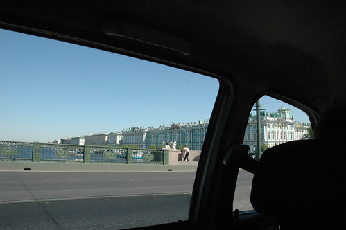 The Hermitage from a car
