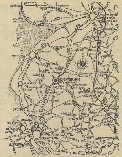 Liverpool Daily Post Map of West Lancashire