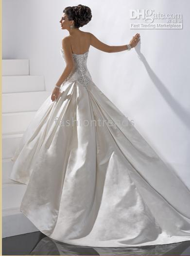 strapless bridal dresses,