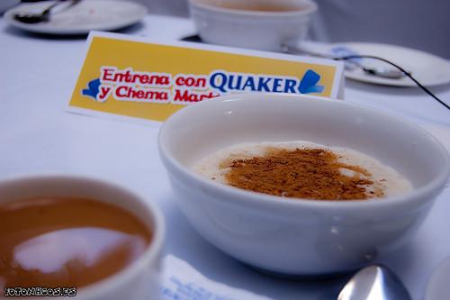 Entrenamiento con Quaker y Chema Martínez en el Retiro