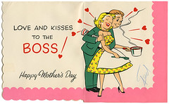Mothers Day_Barkers Card_tatteredandlost (T and L basement) Tags: comic husbandandwife ephemera apron 1950s greetingcard mothersdaycard vintagegreetingcard barkercards cardstoremember
