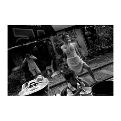 . (Emmanuel Smague) Tags: poverty leica morning travel boy people blackandwhite bw food woman man film 35mm thailand photography kid asia child report documentary railway mp misery precariousness emmanuelsmague alongtherailway