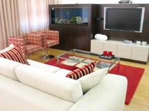 decoração da sala - interiores de casas