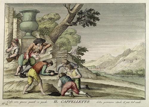 010-El sombrero- Giuochi Trattenimenti e Feste Annue Che si Costumano in Toscana 1790- Giuseppe Piattoli