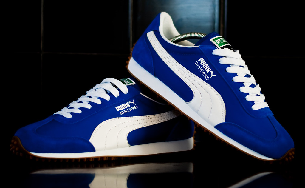 4c00ff6a32 Puma Whirlwind. (forever fresh) Tags  blue white vintage gum clyde shoes  basket
