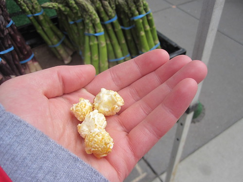 Kettle corn at Ferry Plaza Farmer's Market