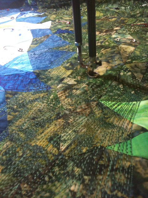 dense quilting of the trees