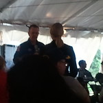 Astronaut Ricky Arnold talking to Stephanie Schierholz