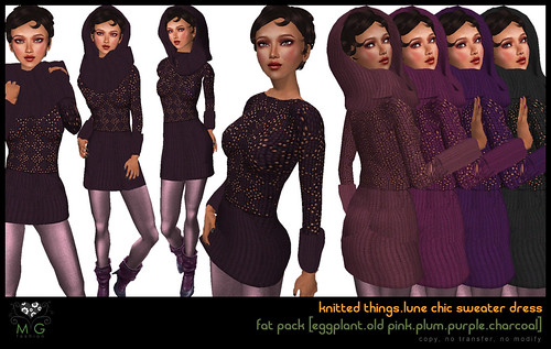 [MG fashion] knitted things collection.lune chic sweater dress (fatpack02)