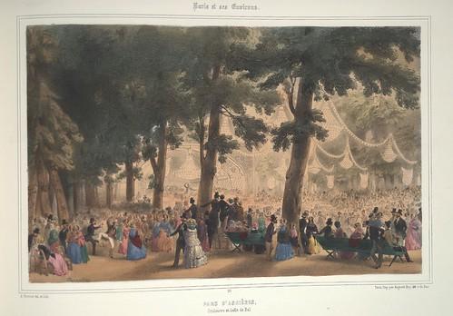 021- Paris- Parque de Asnierês- Orquesta y salon de baile 1858