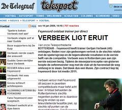 Feyenoord-trainer Verbeek wist spelers niet meer te motiveren