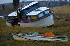 Wreckage (johngretton71) Tags: blue girls red sexy green art abandoned rotting naked nude boats breasts advert marsh ladder ropes fading seduction nets essex leighonsea wreckage lure brilliance wrecks cheating wwb holed gullibility twotreeisland