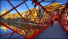 the lady in red (Seracat) Tags: bridge ro reflections river puente cathedral catedral myfav eiffel catalonia rivire girona pont catalunya hdr catalua gerona myfavs riu gustave ferro reflexes catalogne onyar velles sigma1020 sonya100 mywinners abigfave pontdeferro anawesomeshot colourartaward goldstaraward peixateries seracat pontdelespeixateriesvelles