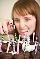 028/365 January 28, 2009 (laurenlemon) Tags: birthday selfportrait me fire candles flame donuts 365 lighter canoneosdigitalrebelxt 365days sunpak544 january09 laurenrandolph laurenlemon