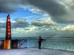 No more light... (Nejdet Duzen) Tags: old light sea cloud lighthouse turkey trkiye fisher deniz soe hdr izmir eski bulut fener denizfeneri supershot balk gzelbahe mywinners abigfave