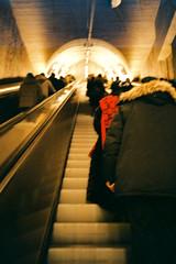 Kamppi (immu) Tags: people film finland subway helsinki europe metro kamppi olympus xa 2009 olympusxa