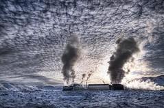 Power (Ptur Gunn Photograpphy) Tags: winter sky sun snow cold geotagged power sony steam alfa 700 powerstation turbine hdr hs coolingtower ptur gunnarsson svartsengi a700 hitaveita suurnesja orkuver peturgunnarsson kliturn