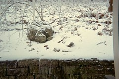 Stone wall next to back porch (junebug_1944) Tags: icestorm eurekaspringsar january2009
