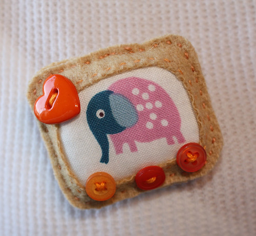 Elephant Love Brooch