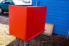 February 08, 2009-95 (timmyj1138) Tags: red metal digital vintage paint gun desk sony spray retro adobe restoration alpha a100 40s lightroom clearcoat dlsr basecoat spraygun a a100k
