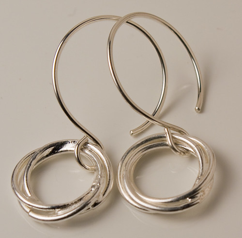 Fused fine silver links