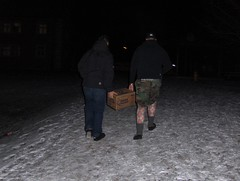 Beer Carry (janel.erikson) Tags: snow beer drunk germany fun slippers carry