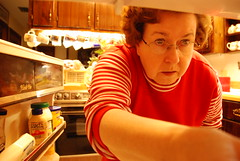 Year 3~Day 81 +52/365 AND Day 812: Is There Anything in Here to Eat? (Old Shoe Woman) Tags: usa selfportrait me kitchen georgia ofme athome refrigerator hahira selftimer 365days nikond80 nikkor18200mmvrlens