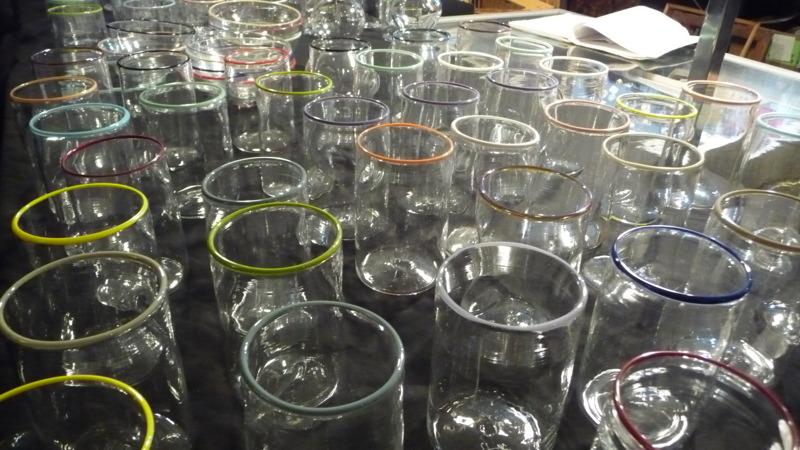 Handblown glassware by Andrew O. Hughes at BK Flea