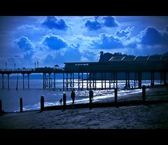 ... Walking The Dog ... (©Komatoes) Tags: pictures uk light sea dog reflection beach water photography pier photo sand nikon waves moody photos picture 63 explore devon photograph groyne groin walkies groynes groins teignmouth d40 nikond40
