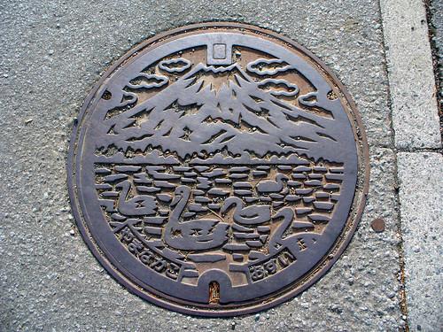 Yamanakako village, Yamanashi pref manhole cover(山梨県山中湖村のマンホール)
