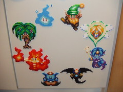 Secret of Mana Spirits (supergiantswing) Tags: game secret sprite spirits bead mana perler snes seikendensetsu hama