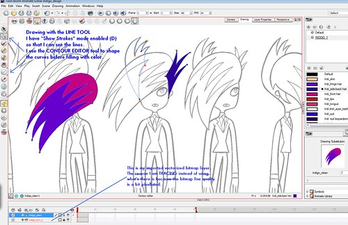 Indigo: Drawing with LINE tool