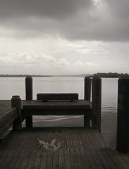 Things to shoot on a rainy day.. [2] (luke_giese) Tags: bw water dock portmacquarie