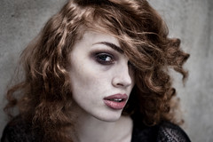 Laura 9 (Marc Laroche) Tags: red portrait cute girl face curls lips mode mymodels