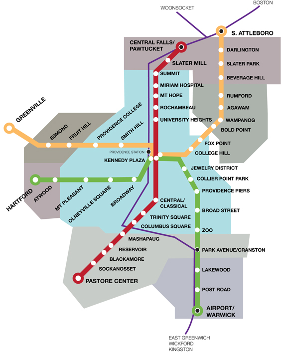 Providence Subway Map.Does Your City Have Subway Or Lighrail Detroit Freeways
