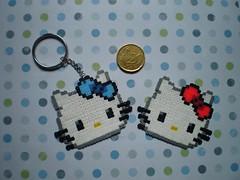 Hello Kitty (*~Bea~*) Tags: handmade hellokity llaveros hamabeads
