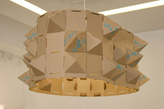 Transformer lighting, Chunwei Lioa, designersblock, green lighting, recyclable materials, cardboard