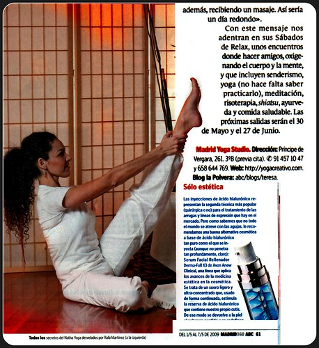 Prensa ABC, Madrid Yoga Studio