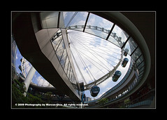 The Eye (uzume002) Tags: sky fish eye architecture canon singapore primelens impressedbeauty singaporeflyer sigma15mmf28exdg platinumheartaward eos5dmarkii