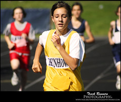 Leading The Race (TrackRunner09) Tags: girls yellow gold memorial track south huskies read leader freehold hawks ericka howellhighschool trackrunner09