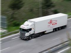 Grup Molina (snap51) Tags: france truck nice fuji motorway lorry trucks autoroute scania a8 camions frigorifique europeantruck effetfilé s100fs
