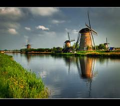 Tilting (at) Windmills (Jeff Milsteen) Tags: holland jeff netherlands landscape nikon windmills canals unesco worldheritagesite explore mills frontpage kinderdijk d300 nearrotterdam jlmphoto milsteen
