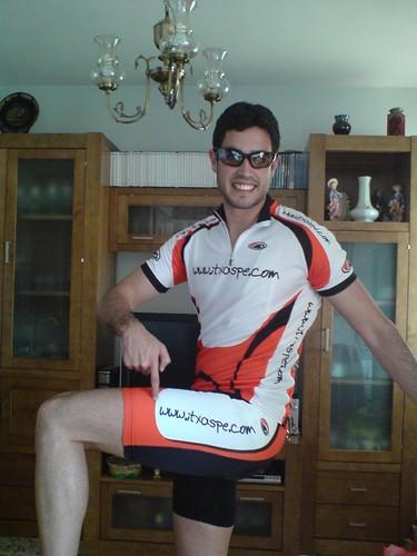 Equipación personalizada de ciclismo Itxaspe en Andalucia. Juan Lara