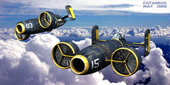 FORMATION FLIGHT (I) (cutangus) Tags: art vertical computer 3d cg fighter render aircraft attack flugzeug textured vtol caza interceptor vertikal aeronave aeronef