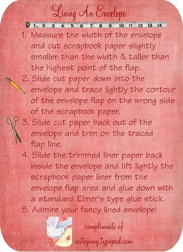 Lining an Envelope Instructions