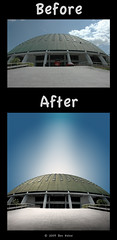 "Before/After - ""Somewhere in the Future"" (Ben Heine) Tags: travel light shadow wild sun reflection nature photoshop season poster landscape photography countryside frames mac scenery poem glow photographie time nikond70 earth geometry lumire couleurs quality magic details innocent shapes stroke philosophy manipulation harmony poet photoediting planet terre trick spirituality portfolio conceptual curve paysage technique wacom retouching tutorial edit victims rendering beforeafter specialeffects sauvage avantaprs trucs originalversion godspainting digitalshot benheine effetsspciaux graphicenhancement editingtools tablettegraphique finalwork colourscolors hubertlebizay hubzay flickrunited kleurentones"
