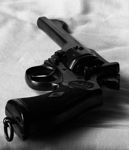 Webley & Scott .38 Mark IV Revolver; ← Oldest photo