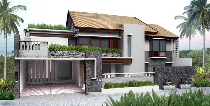 Perfect This Is One Of House Design Project That Almost Enter The Construction  Phase, Location At Jimbaran Bali, Which Have Land Area 200 M2 And 2 Storey  Building ...