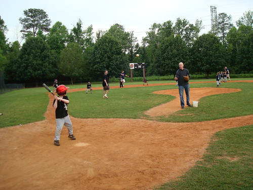 Daddy pitching to Josh