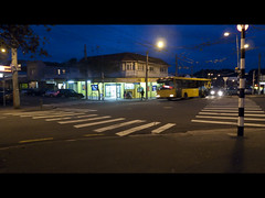 intersection (Jake Faulkner) Tags: newzealand bus wellington intersection 4square aotearoa pedestriancrossing hataitai